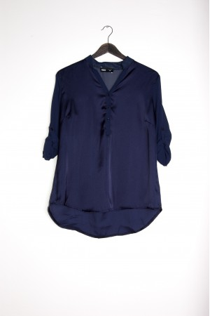 SHIRT COLLETTO COREANA  BLU