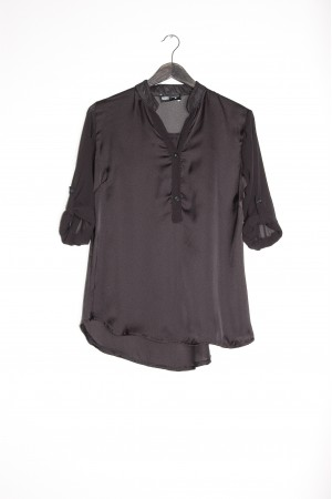 SHIRT COLLETTO COREANA NERO